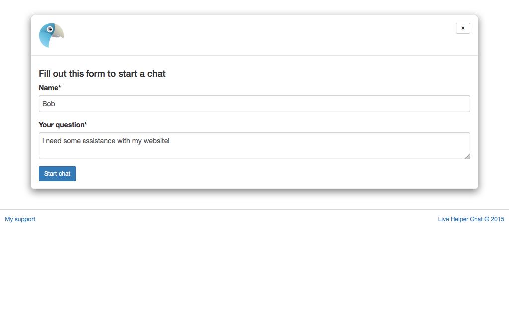 Alojamiento Live Helper Chat