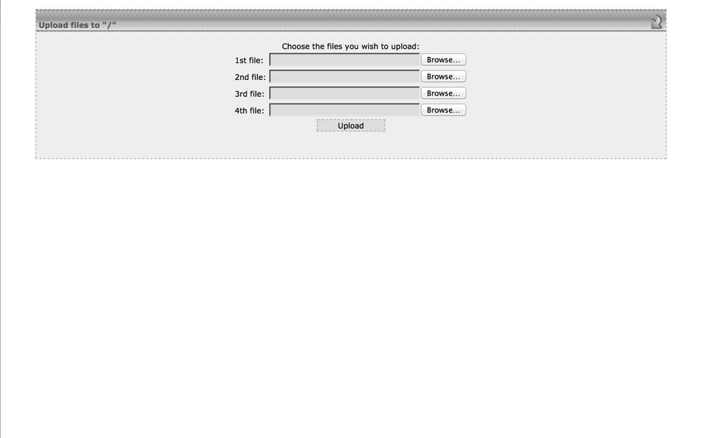 Alojamiento GQ File Manager