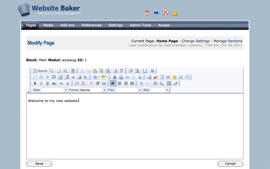 Hosting WebsiteBaker