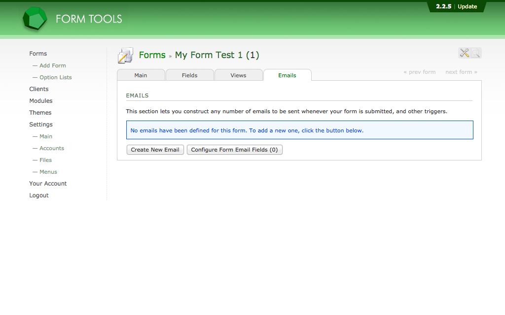 Hébergement Form Tools